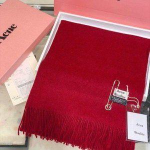 Acne studios red  wool scarf